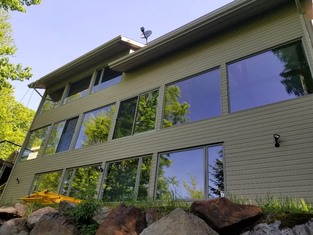 Completed installation of exterior solar film