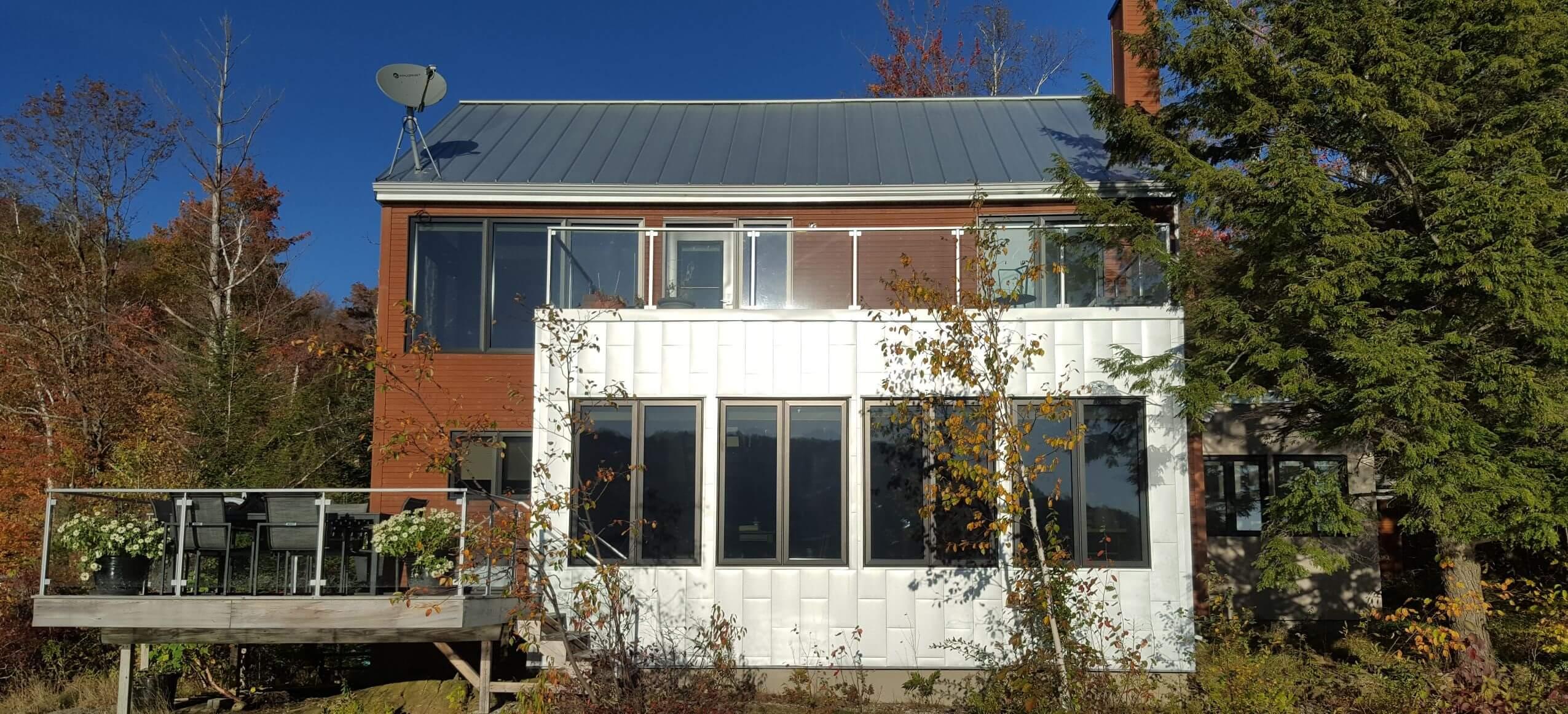 Exterior solar film reduces heat gain and glare