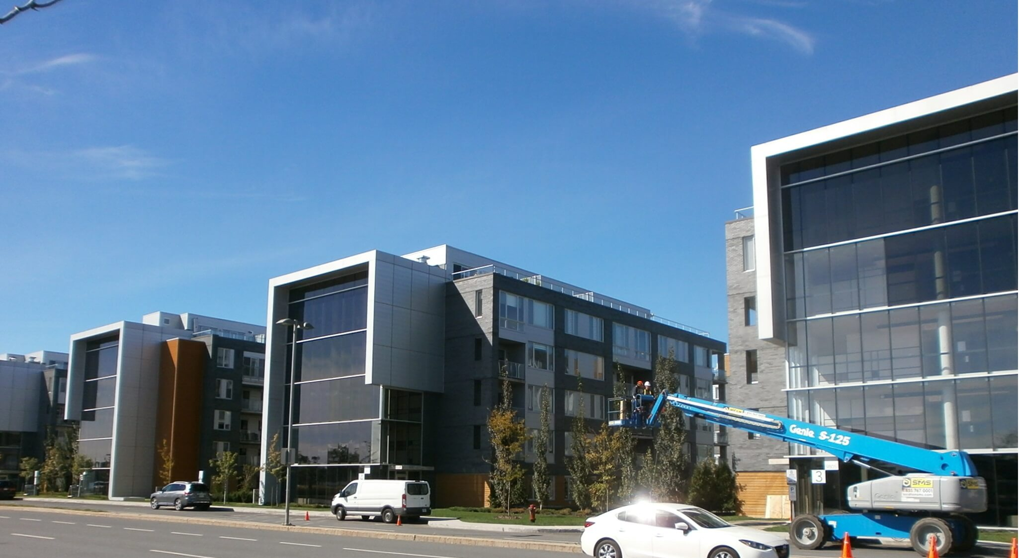 Large-scale condo project with Prestige exterior film