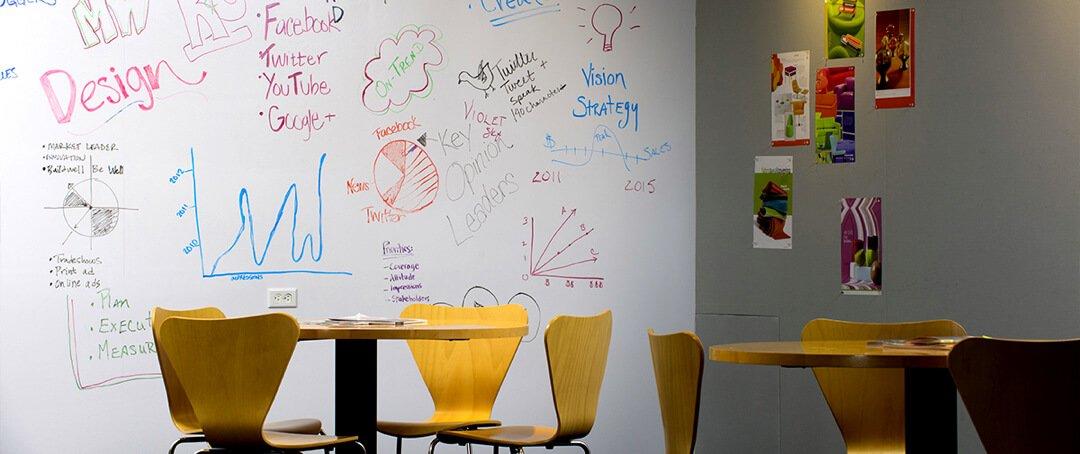 Pellicule mural ''Whiteboard'' de 3M pour votre créativité