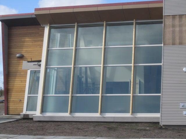 Pellicule givrée intimité pour façade extérieure