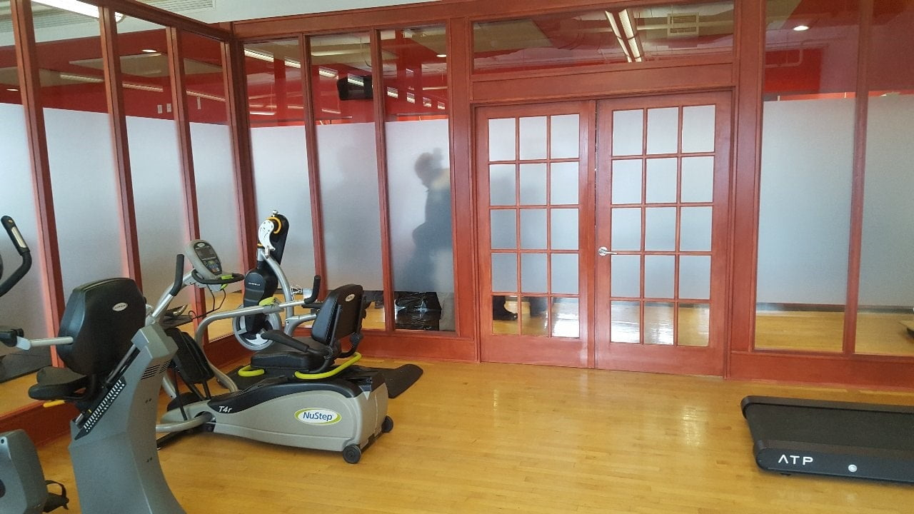 Intimité pour une salle d'entraînement