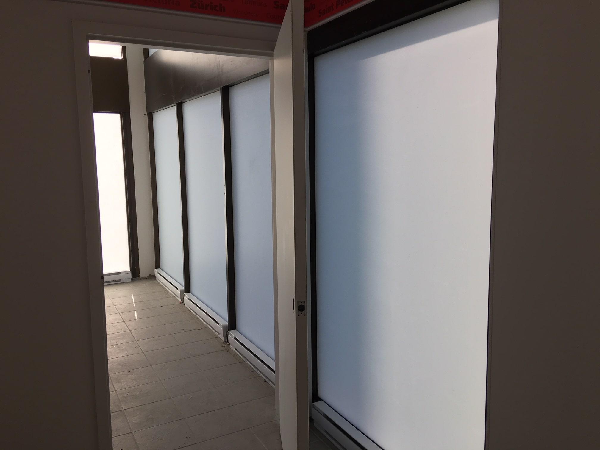 Vue d'intérieur: Pellicule opaque blanc